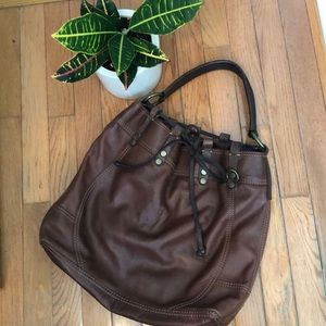 Lucky brand vintage inspired leather purse